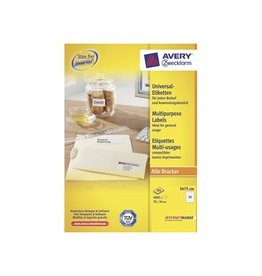 Avery Zweckform Avery witte etik. QuickPeel 70x36mm 4800st 24 per bl, 200 bl