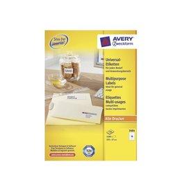 Avery Zweckform Etiket Avery zweck 3484 105x37mm 1600st