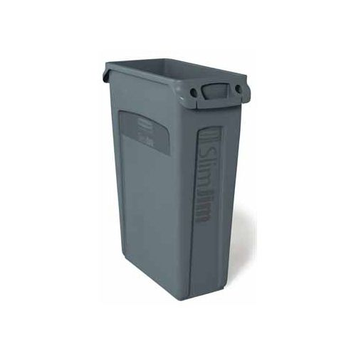 Rubbermaid commercial products Rubbermaid afvalcontainer Slim Jim, 87 liter, grijs
