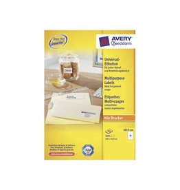 Avery Avery witte etik. QuickPeel 105x42,3mm 2800st, 14/bl, 200bl