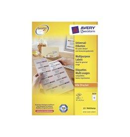 Avery Etiket Avery zweck 3659 97x42.3mm 1200st