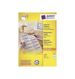 Avery Avery witte etik. QuickPeel 48,5x16,9 mm 6.400st, 64/bl, 100