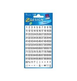 Avery Zweckform Avery Etiketten cijfers en letters 1-100, 2 blad [10st]