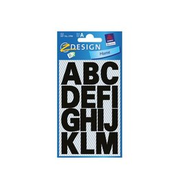 Avery Zweckform Avery Etiketten letters A-Z groot, 2 blad, zwart [10st]