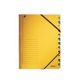 Leitz Leitz bureau sorteermap, karton, ft A4, 12 tabs, geel [5st]
