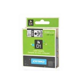 Dymo Label Dymo 40910 9mm trans. op zwart d1