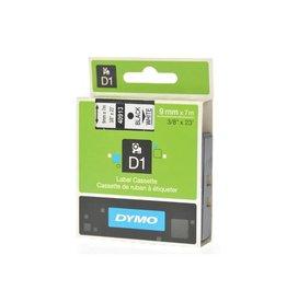 Dymo Dymo D1 tape 9 mm, zwart op wit