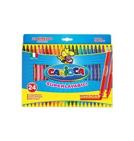 Carioca Carioca viltstift Dubbelpunter Birello Superwashab 24 stifte