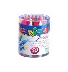 Carioca Carioca waskrijt Wax Maxi, plastic pot met 50st in div. kl.