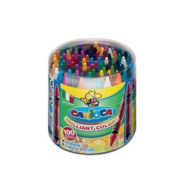 Carioca Carioca waskrijt Wax, pot met 100st in geassorteerde kleuren