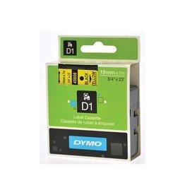 Dymo Dymo D1 tape 6 mm, zwart op geel