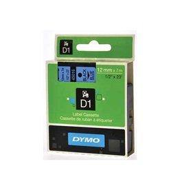 Dymo Dymo D1 tape 12 mm, zwart op blauw