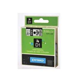 Dymo Dymo D1 tape 19 mm, zwart op transparant