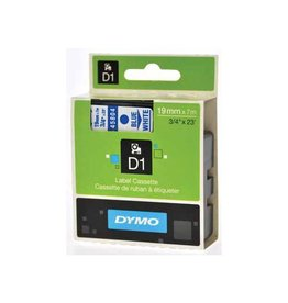 Dymo Dymo D1 tape 19 mm, blauw op wit