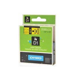 Dymo Dymo D1 tape 19 mm, zwart op geel