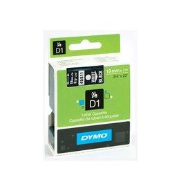 Dymo Dymo D1 tape 19 mm, wit op zwart