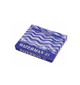 Waterman Waterman inktpatronen Standard blauw-zwart, pak van 8 stuks