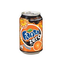 Coca Cola Company Fanta Zero Orange frisdrank, blik van 33 cl, pak van 24st