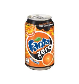 Coca Cola Company Frisdranken Fanta Zero Orange, pak van 24 stuks