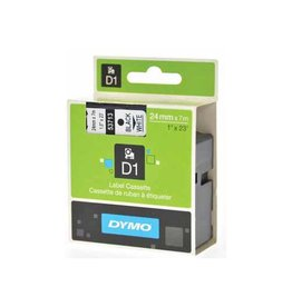 Dymo Dymo D1 tape 24 mm, zwart op wit