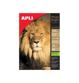 Apli Apli fotopapier Photo Bright ft A4, 240 g, pak van 20 vel
