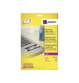 Avery Zweckform Etiket Avery l6011-20 63.5x29.6mm zilver