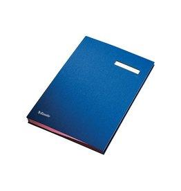 Esselte Esselte handtekenmap, ft A4, 20 vakken, blauw