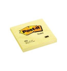 Post-it Memoblok 3M Post-it 654 76x76mm Geel 100blad