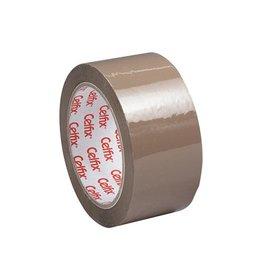 Celfix Celfix verpakkingsplakband ft 50 mm x 66 m, PVC, bruin