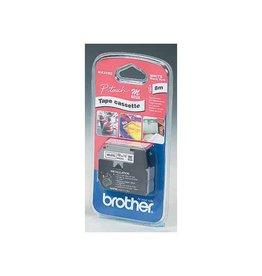 Brother Brother M tape voor P-Touch 12 mm, gelamineerd, zwart op wit