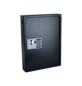 Pavo Sleutelkast, voor 50 sleutelhangers, 10 x 40 x 55 cm, zwart