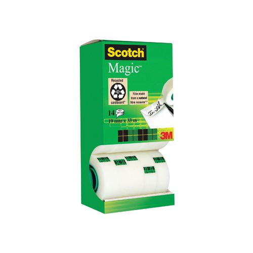 Scotch plakband Scotch Magic Tape, value pack 12+2rol gratis