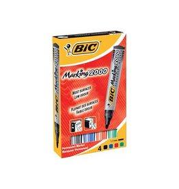 Bic Bic permanent marker 2000, doos met 4st in div. kl.