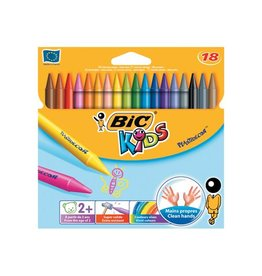 Bic Kids Bic waskrijt Plastidecor 18 stuks