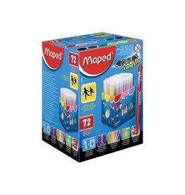 Maped Maped Viltstift Color'Peps 72 stiften in een kartonnen doos