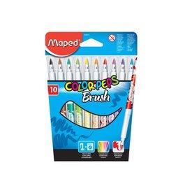 Maped Maped penseelstift Brush, 10 stuks in een kartonnen etui