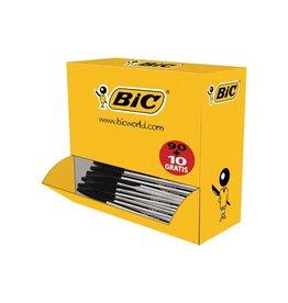 Bic Bic balpen Cristal Medium voordeelpak 90 + 10 gratis, zwart