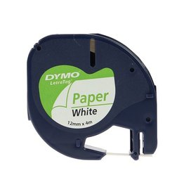 Dymo Dymo LetraTAG tape 12 mm, papier wit