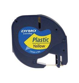 Dymo Dymo LetraTAG tape 12 mm, plastic geel