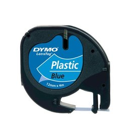 Dymo Dymo LetraTAG tape 12 mm, plastic blauw