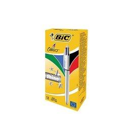 Bic Bic balpen 4 Colours Shine, zilver [12st]
