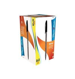 Papermate Paper Mate balpen InkJoy 100 met dop, zw, doos 80 +20 gratis
