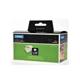 Dymo Dymo etiketten LabelWriter 89x28mm, div. kl., 520 etiketten