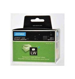 Dymo Dymo etiketten LabelWriter 89 x 36 mm, transp, 260 etiketten