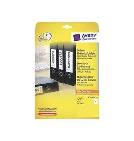 Avery Zweckform Zweck Printbare insteekkaarten voor ordnerrug 5,4x19 125st