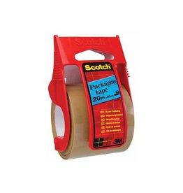 Scotch Scotch afroller met verpakkingsplakband, 50 mm x 20 m, bruin
