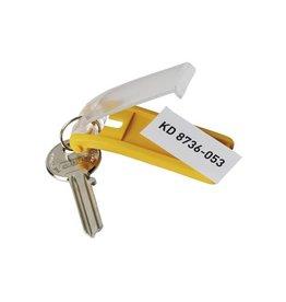 Durable Durable sleutelhanger Key Clip, geel, pak van 6 stuks