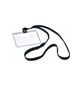 Durable Durable badge met textielband zwart