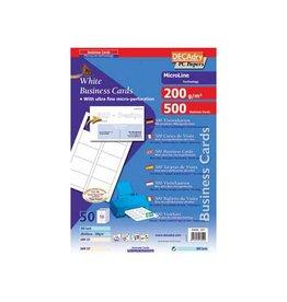 Decadry Decadry visitekaarten MicroLine 85x54mm,200g/m²,500 kaartjes