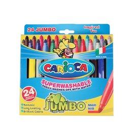 Carioca Carioca viltstift Jumbo Superwashable 24 stiften in een kart